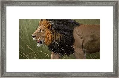 Savannah Patrol Framed Print by Aaron Blaise