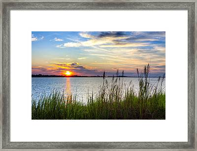 Framed Print featuring the photograph Savannah River At Sunrise - Georgia Coast by Mark E Tisdale