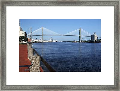 Savannah River Bridge Ga Framed Print