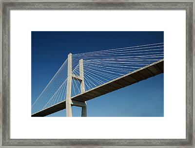 Savannah River Bridge Georgia Usa Framed Print