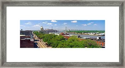 Savannah River, Savannah, Georgia Framed Print