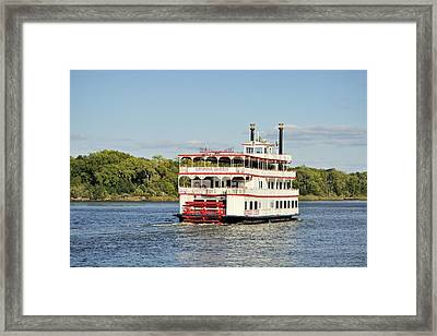 Savannah River Steamboat Framed Print