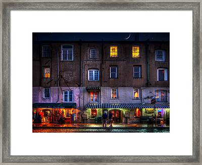 Savannah River Street Framed Print by Mark Andrew Thomas