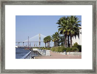 Savannah Riverwalk Framed Print