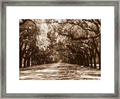 Savannah Sepia - The Old South Framed Print