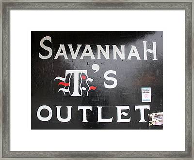 Savannah T's Outlet Framed Print by Joseph C Hinson Photography