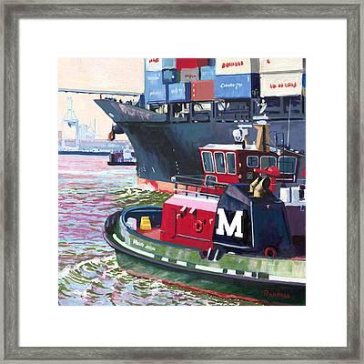 Savannah Tug Framed Print by David Randall