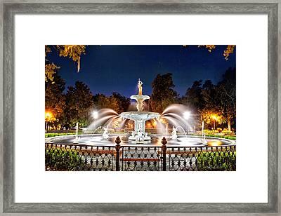Savannah Under Starlight Framed Print by Renee Sullivan