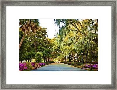 Savannah Walk Framed Print by Diana Powell