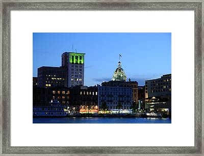 Framed Print featuring the photograph Savannah Waterfront by Bradford Martin