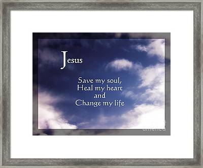Save My Soul - Christian Art Framed Print by Ella Kaye Dickey