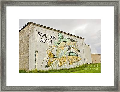 Save Our Lagoon Framed Print by Lynda Dawson-Youngclaus