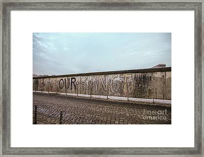 Save Our Planet Framed Print by Patricia Hofmeester