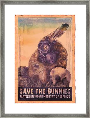 Save The Bunnies Framed Print by Penny Collins