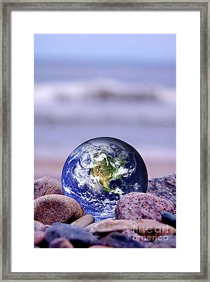 Save The Earth Framed Print by Michal Bednarek