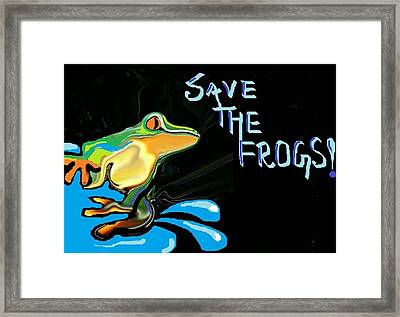 Save The Frogs Framed Print by Poornima M