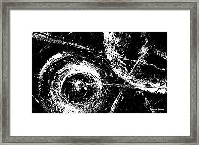 Save The Planet - Black And White -horizontal Formal -abstract By Laura Gomez Framed Print by Laura  Gomez