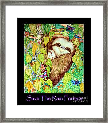 Save The Rain Forests Framed Print