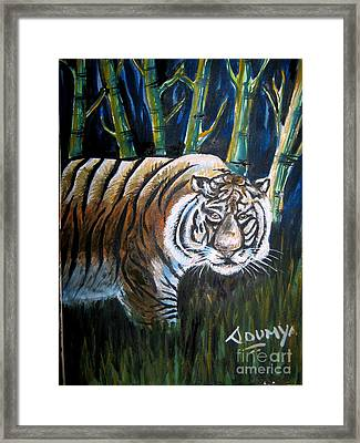 Save The Tiger Framed Print by Soumya Suguna