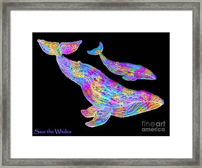 Save The Whales 2 Framed Print by Nick Gustafson