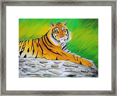 Save Tiger Framed Print by Tanmay Singh