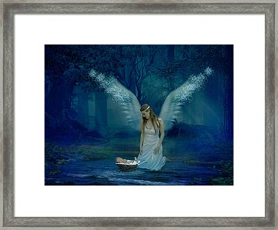 Saved By An Angel Framed Print