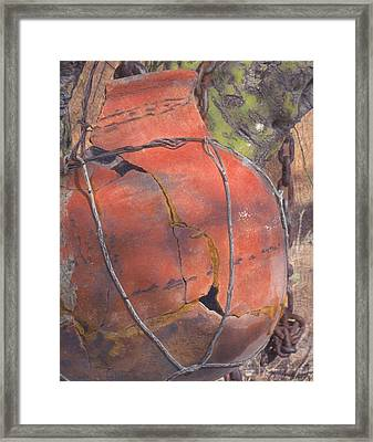 Framed Print featuring the mixed media Saved By Fortuity by Carla Woody