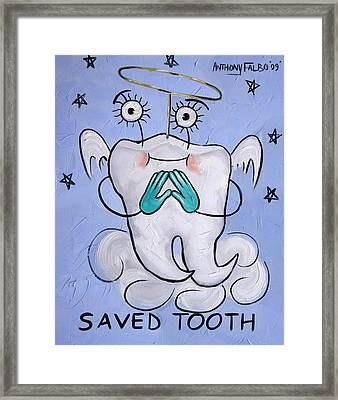 Saved Tooth Framed Print by Anthony Falbo