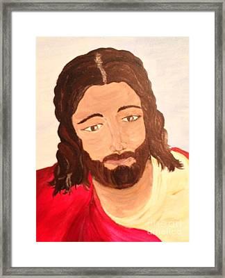 Savior Framed Print by Michelle Bentham