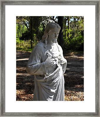 Savior Statue Framed Print by Al Powell Photography USA