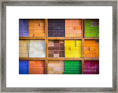 Savons Provencale Framed Print by Inge Johnsson