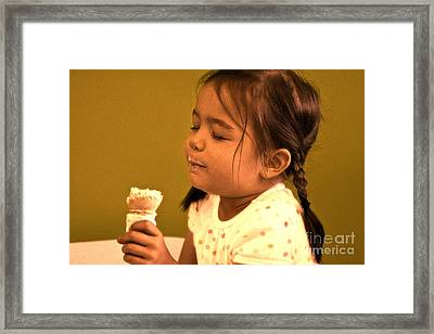 Framed Print featuring the photograph Savour The Flavour Baby by Sandi Mikuse