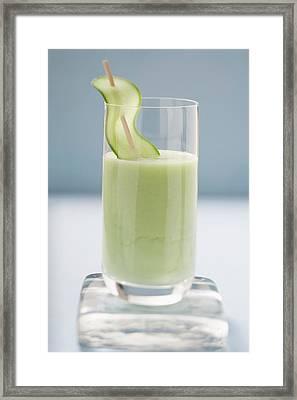 Savoury Cucumber Drink Framed Print