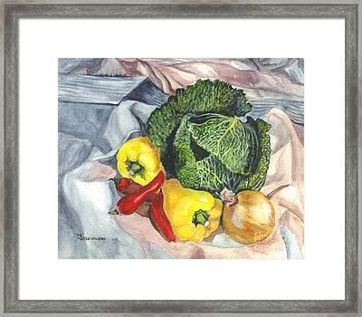 Have You Had Your Vegetables Framed Print by Carol Wisniewski