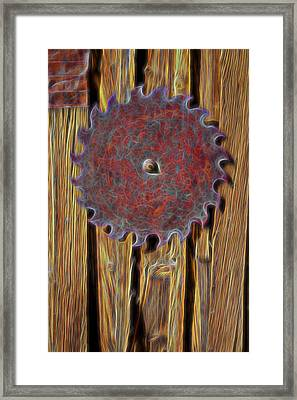 Saw Blade Framed Print by Kelley King