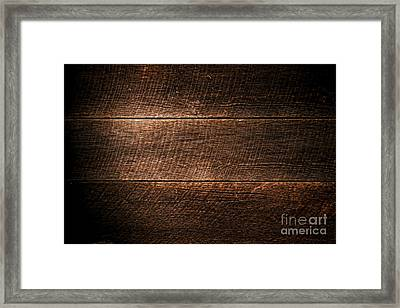Saw Marks On Wood Framed Print