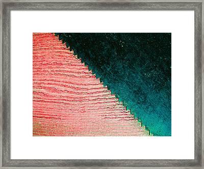Saw On Wood F Framed Print by Laurie Tsemak