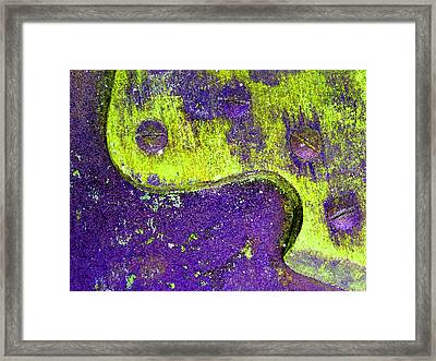 Hand Saw Q Framed Print by Laurie Tsemak