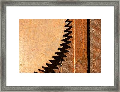 Saw Teeth Framed Print by Jess Kraft