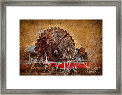 Saw You Later Framed Print