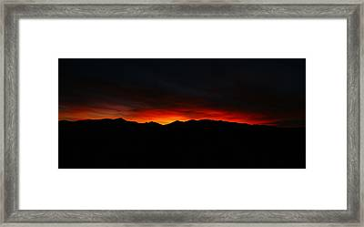 Sawatch Silhouette Framed Print by Jeremy Rhoades