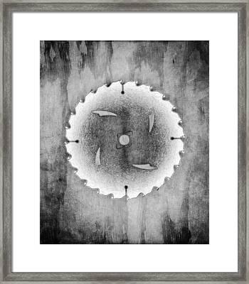 Sawblade Bw Framed Print