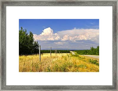 Framed Print featuring the photograph Sawmill Creek Road by Cathy Mahnke