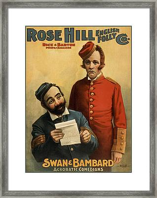 Sawn And Bambard Circa1899 Framed Print by Aged Pixel