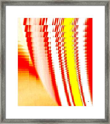 Sawtooth Abstract 2 Framed Print