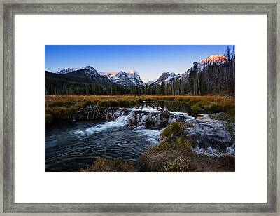 Sawtooth Cold Morning In Stanley Idaho Framed Print