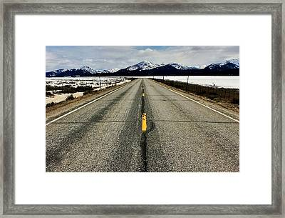 Sawtooth Highway Framed Print by Benjamin Yeager