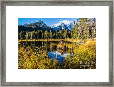 Sawtooth Morning In Stanley Idaho Framed Print
