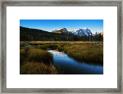 Sawtooth Mountain Cold Morning Framed Print by Vishwanath Bhat