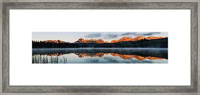 Sawtooth Mountain Range Panorama Framed Print